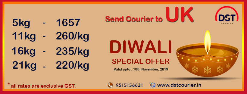 diwali courier offers